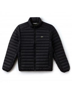 Lacoste Short Contrast Lining Quilted Jacket Black