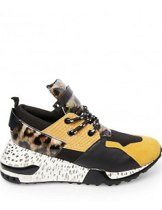 Steve Madden Cliff Sneaker Yellow Multi