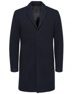 SHDBROVE WOOL COAT Navy